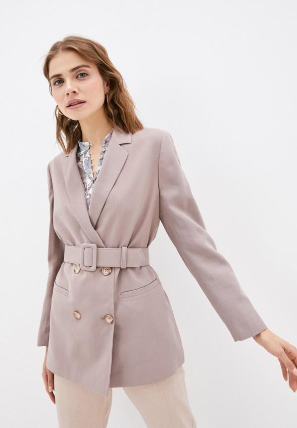 женский пиджак lusio, коричневый