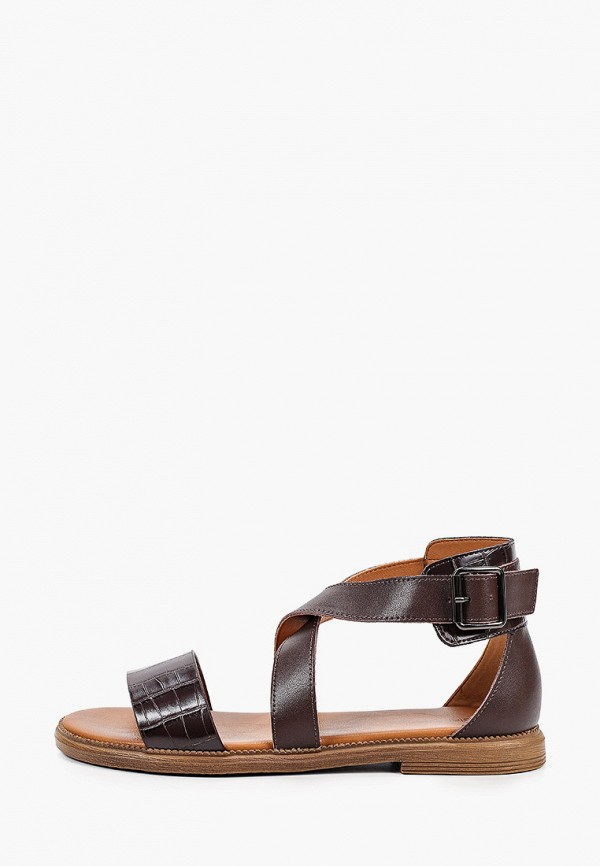 женские сандалии helena berger, коричневые