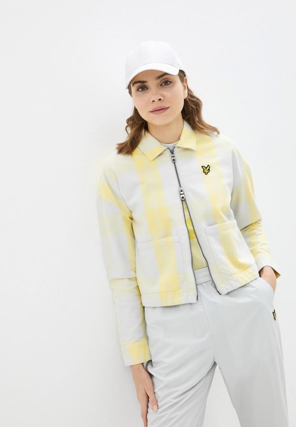 женская джинсовые куртка lyle & scott, желтая