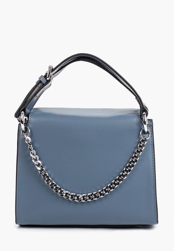 женская сумка с ручками снежная королева, синяя