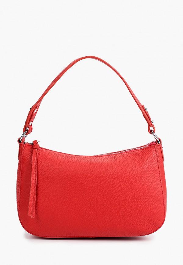 женская сумка с ручками снежная королева, красная