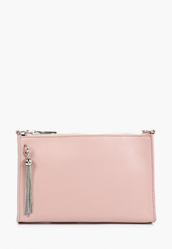 женская сумка через плечо снежная королева, розовая