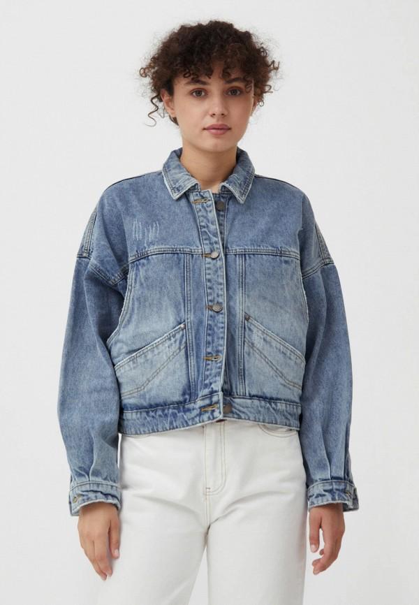 Куртка джинсовая Finn Flare голубого цвета