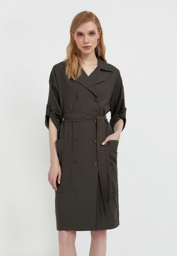Платье Finn Flare цвета хаки