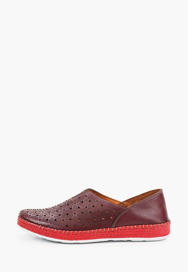 женские туфли с закрытым носом laremo, бордовые
