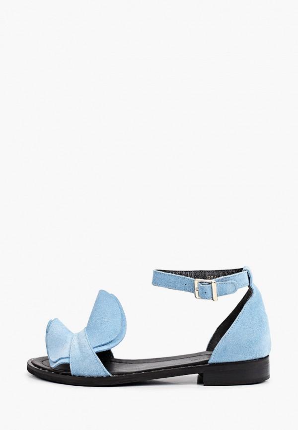 женские сандалии laremo, голубые