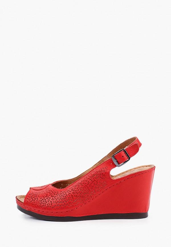 женские босоножки laremo, красные