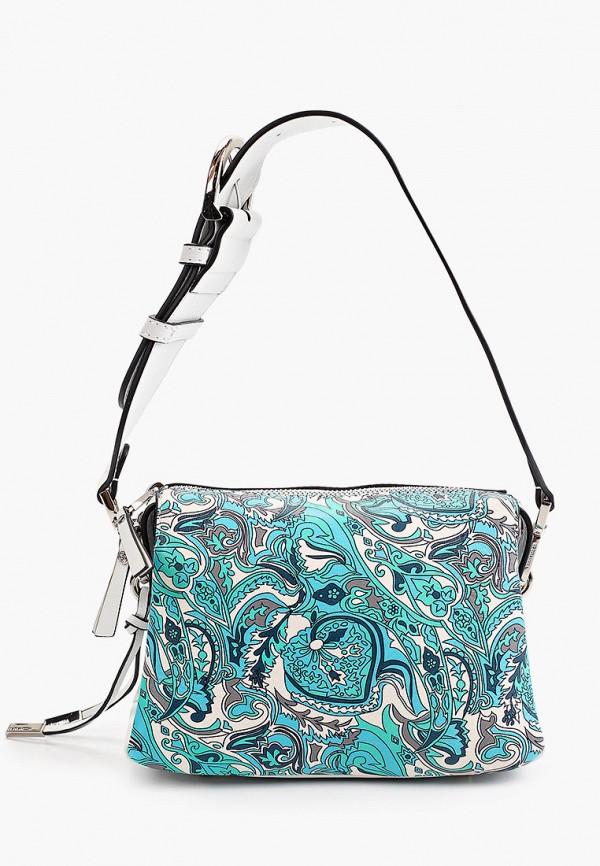 женская сумка через плечо eleganzza, бирюзовая
