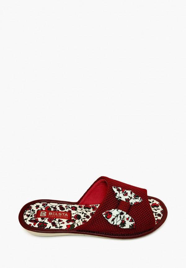 женские тапочки belsta, бордовые