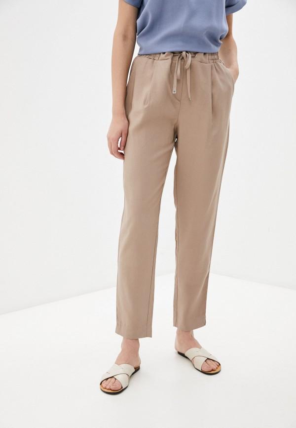 женские брюки джоггеры baon, бежевые