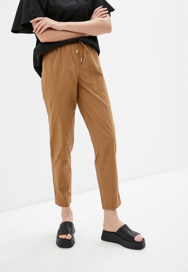 женские брюки джоггеры baon, коричневые