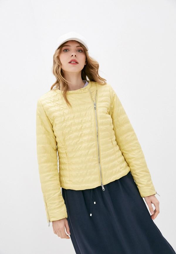 женская утепленные куртка baon, желтая