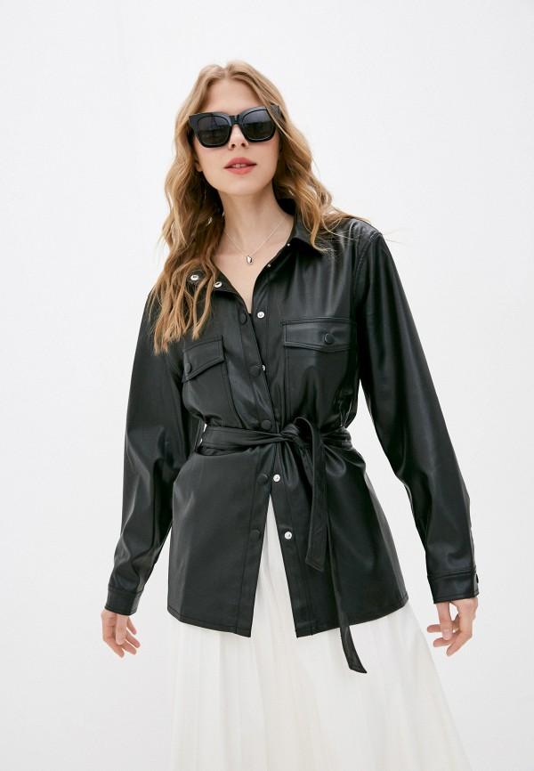 женская рубашка с длинным рукавом baon, черная