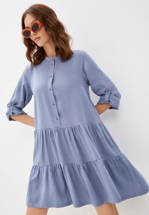 женское платье-рубашки baon, голубое