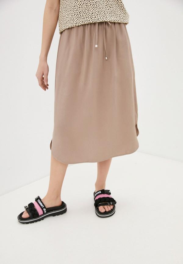 женская юбка-трапеции baon, бежевая
