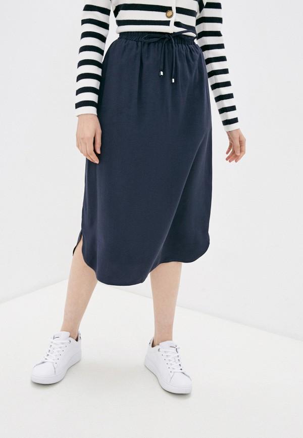 женская юбка-трапеции baon, синяя