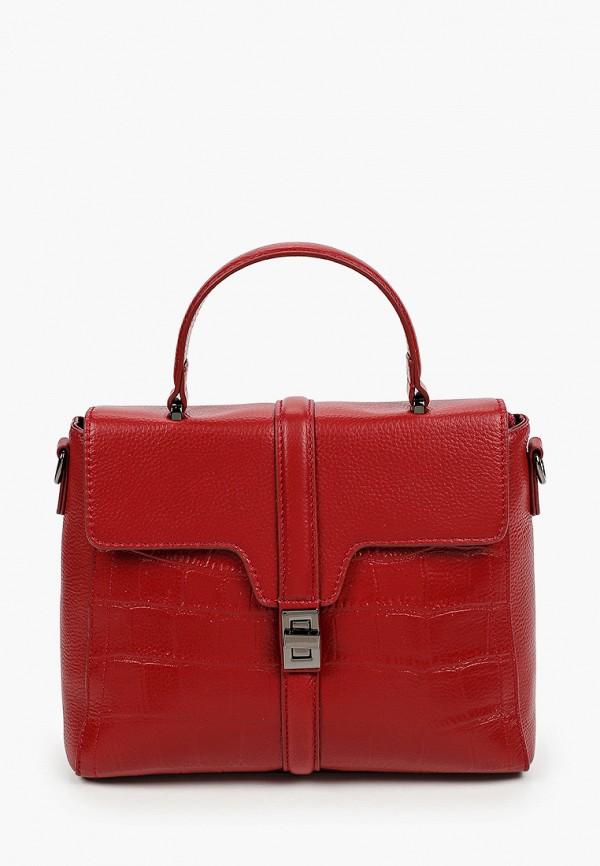 женская сумка с ручками basconi, красная