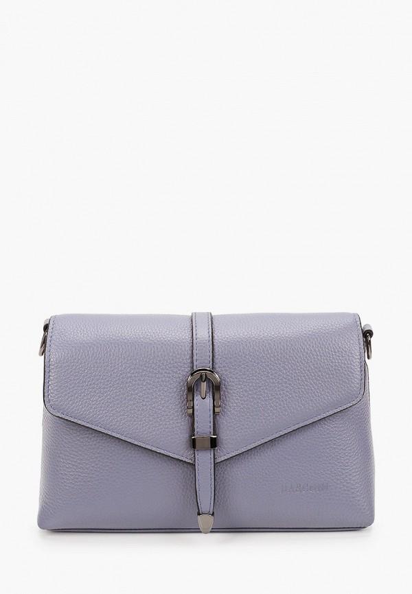 женская сумка через плечо basconi, голубая