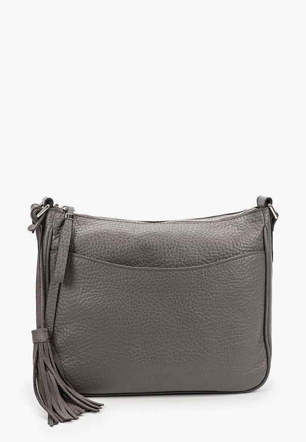 женская сумка через плечо basconi, серая