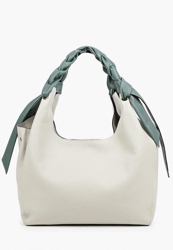 женская сумка с ручками basconi, зеленая