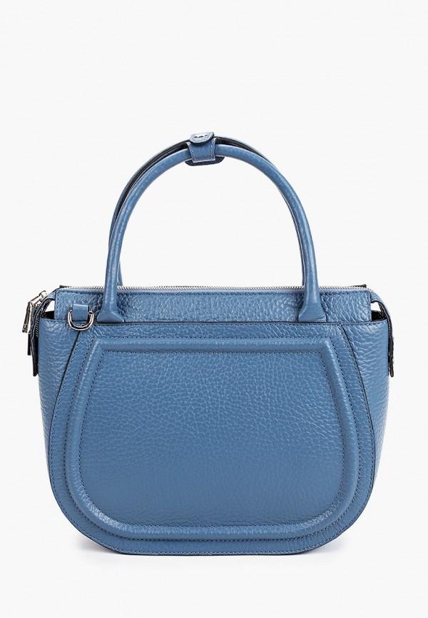 женская сумка с ручками basconi, синяя