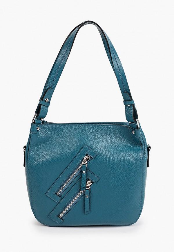 женская сумка с ручками basconi, бирюзовая