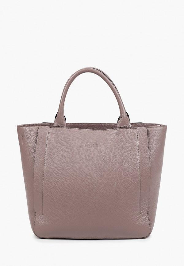 женская сумка с ручками basconi, фиолетовая