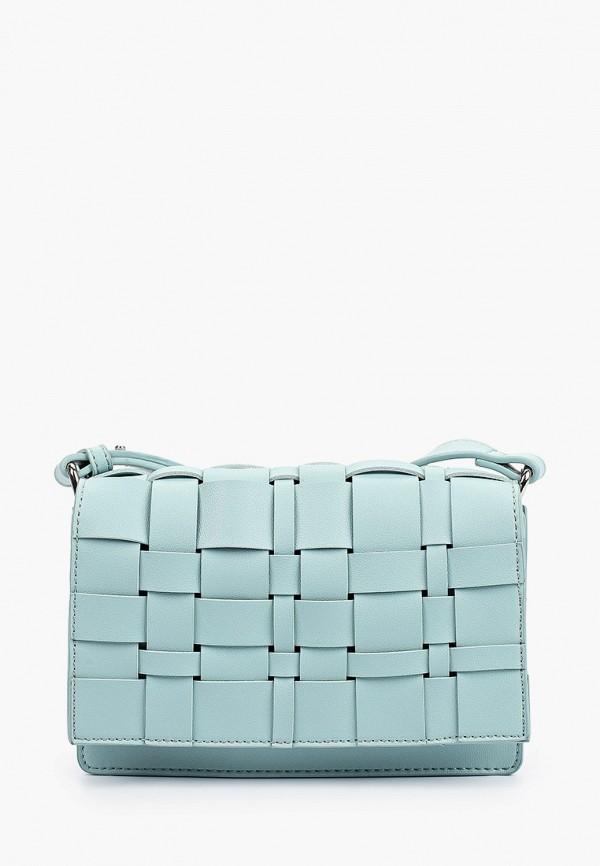 женская сумка через плечо francesco donni, бирюзовая