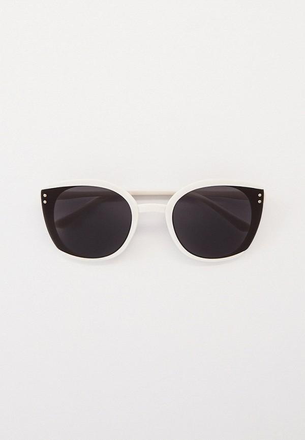 женские солнцезащитные очки кошачьи глаза kellis, белые