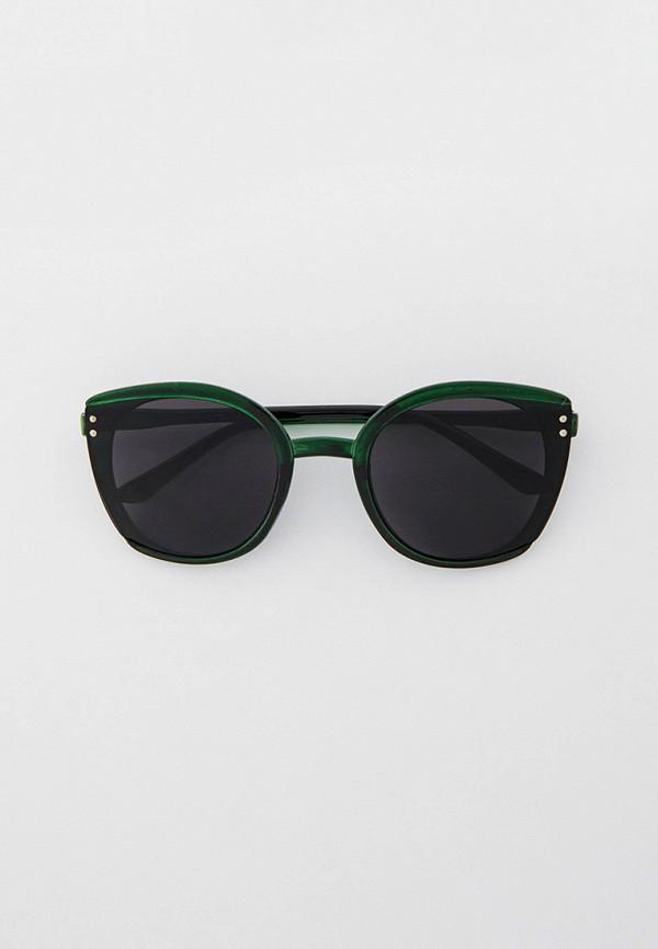 женские солнцезащитные очки кошачьи глаза kellis, зеленые