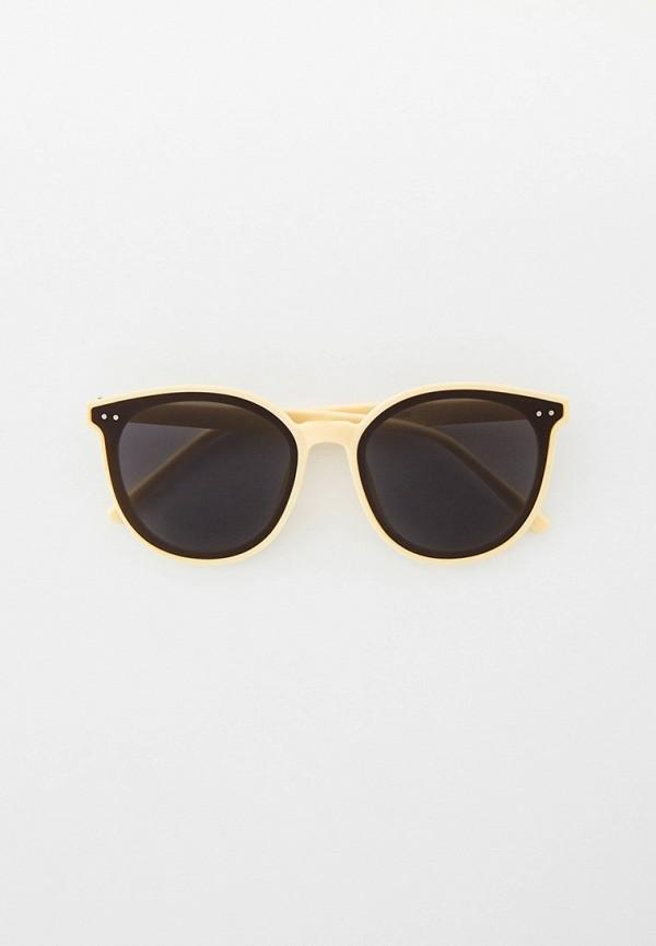 женские солнцезащитные очки кошачьи глаза kellis, бежевые