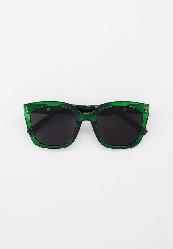 женские квадратные солнцезащитные очки kellis, зеленые