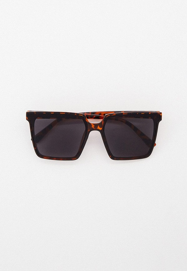 женские квадратные солнцезащитные очки kellis, коричневые