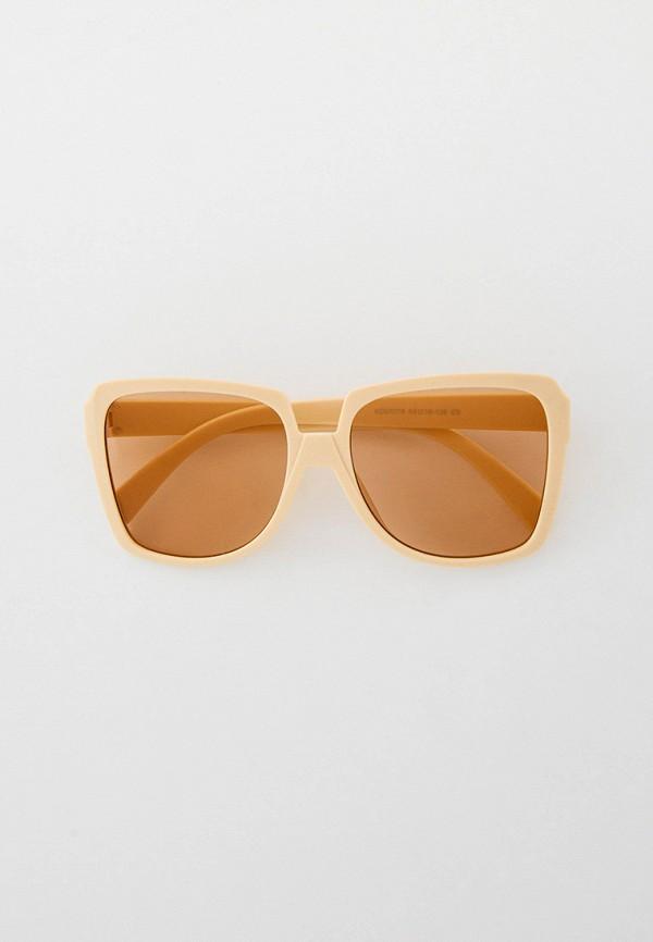 женские квадратные солнцезащитные очки kellis, бежевые