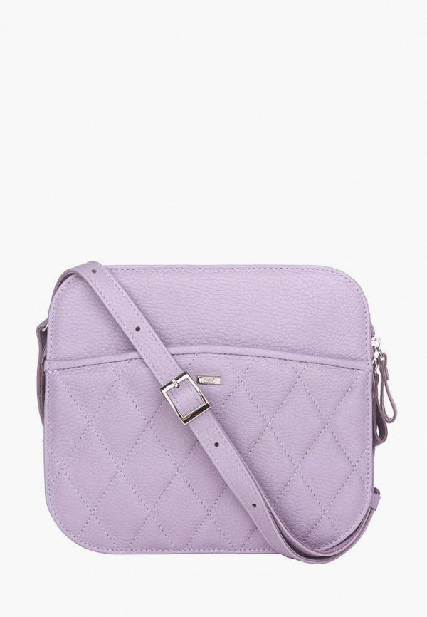 женская сумка через плечо esse, фиолетовая