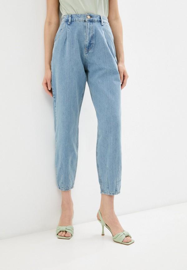 женские джинсы-мом whitney, голубые