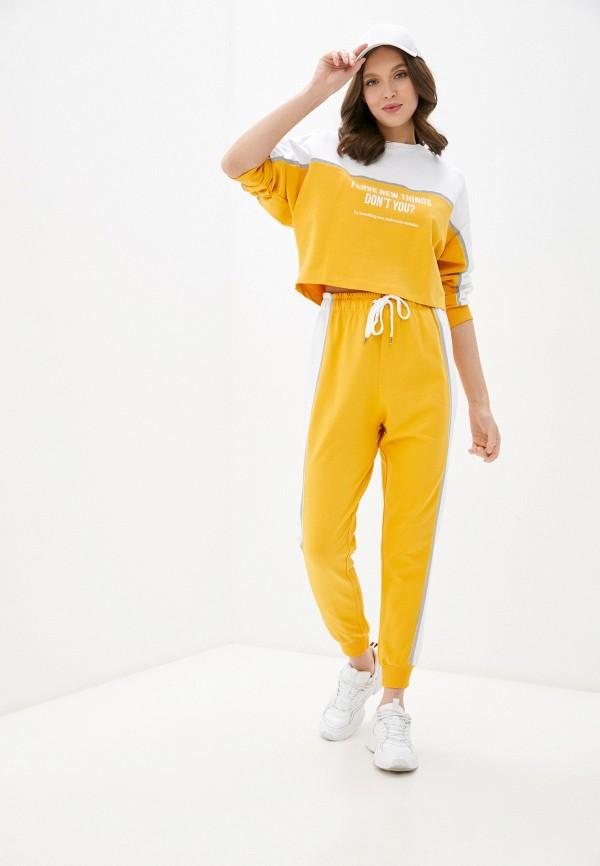 женский костюм whitney, желтый