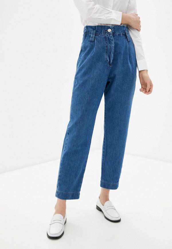 женские джинсы-мом whitney, синие