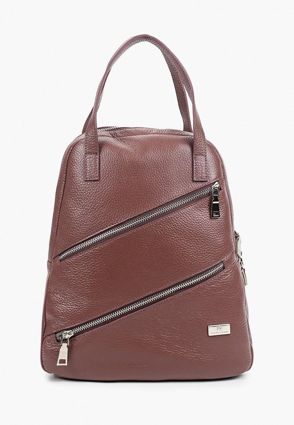 женский рюкзак franchesco mariscotti, коричневый