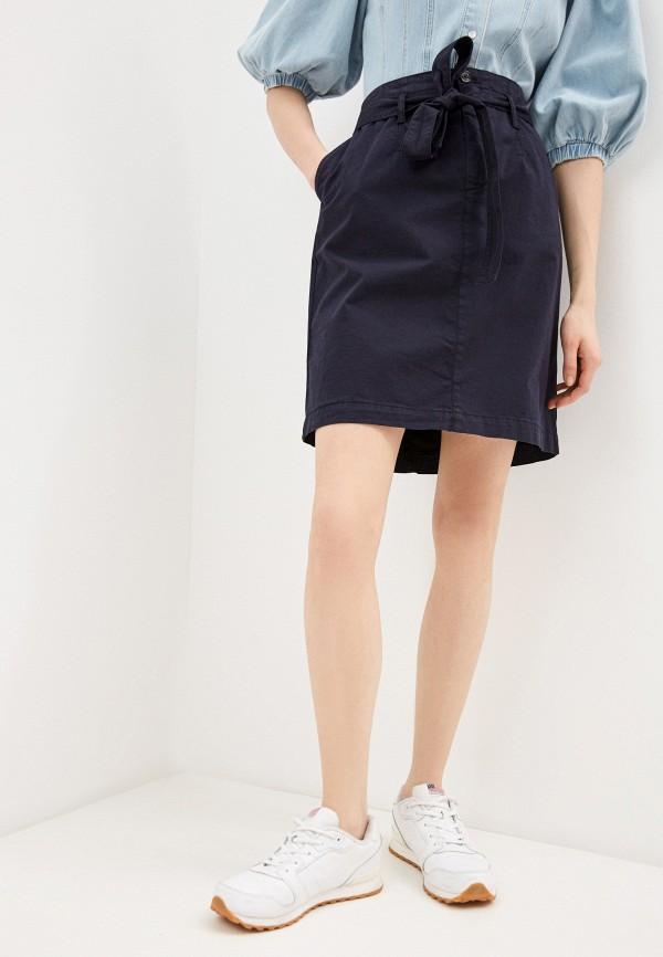 женская прямые юбка boss, синяя