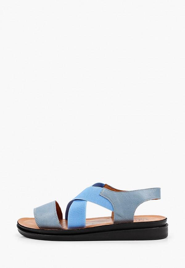 Сандалии Ascalini голубого цвета