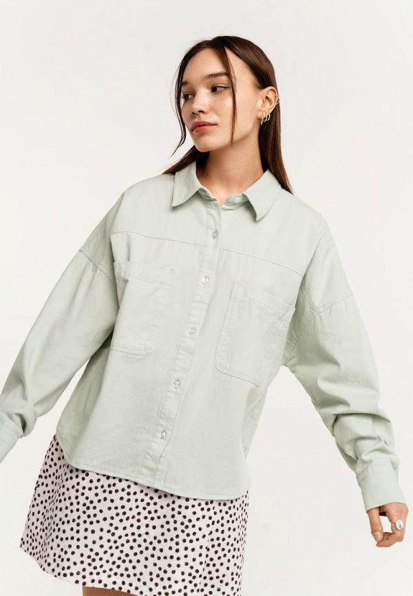 женская рубашка с длинным рукавом befree, зеленая