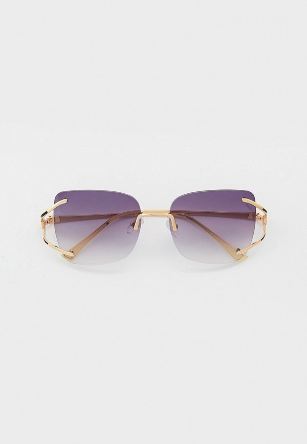 женские квадратные солнцезащитные очки pur pur, фиолетовые