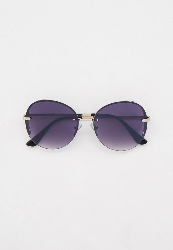 женские круглые солнцезащитные очки pur pur, серебряные