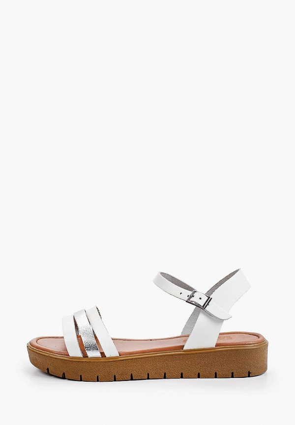 женские сандалии shoiberg, белые