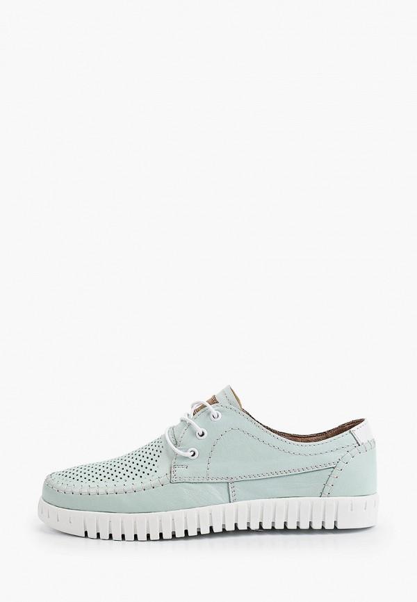 женские низкие ботинки shoiberg, бирюзовые