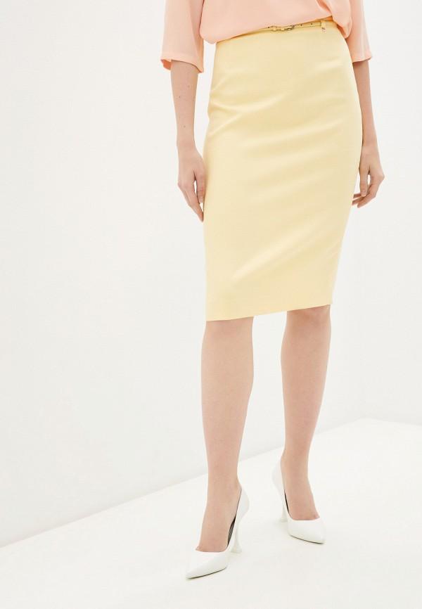 женская узкие юбка nelva, желтая
