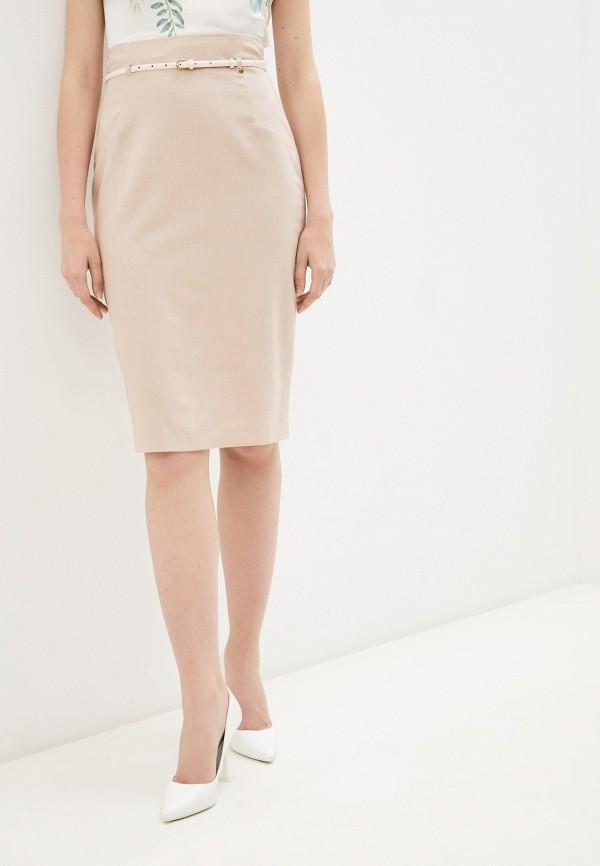 женская узкие юбка nelva, розовая
