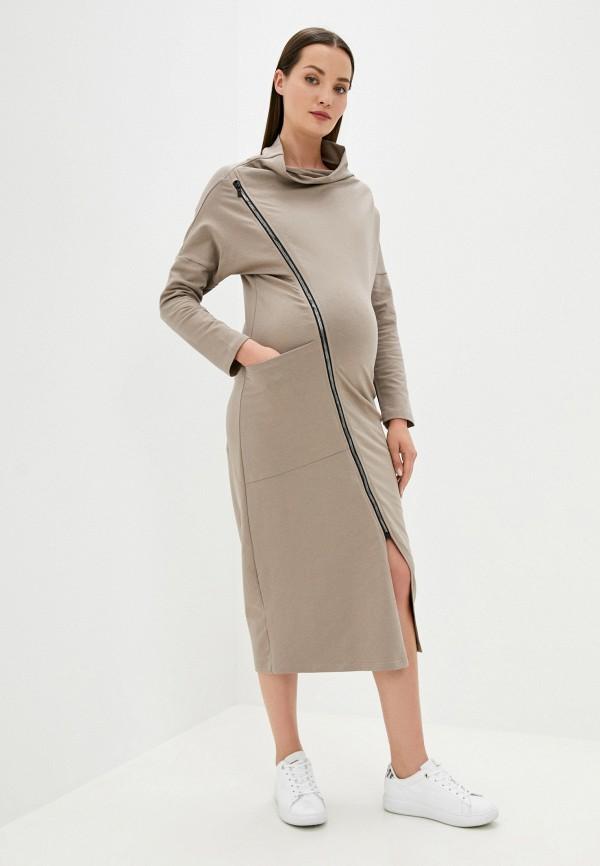 женское платье-толстовки fest, коричневое