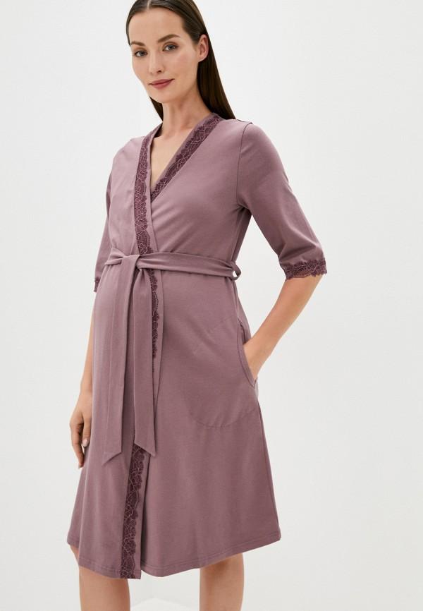 женский халат fest, фиолетовый